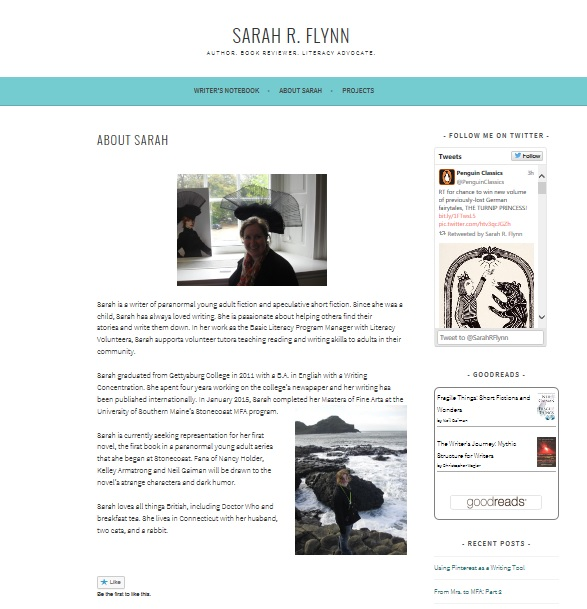 I keep my website simple and clean.