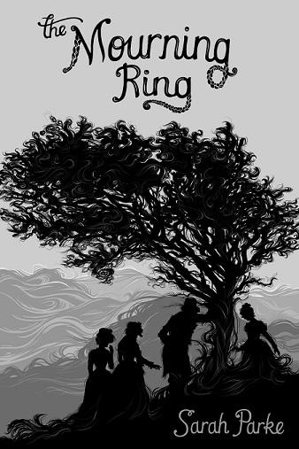 Bronte siblings standing beneath hawthorn tree
