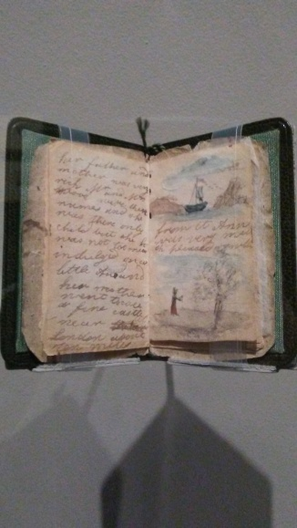 Some of the tiny manuscripts had tiny watercolor illustrations.